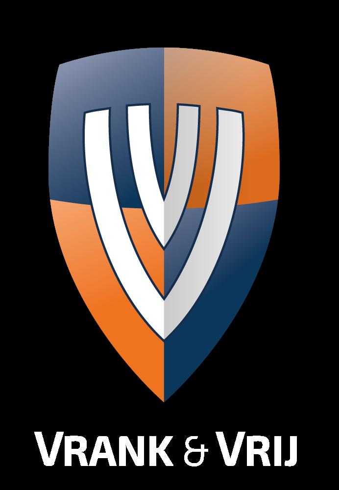 Vrank & Vrij logo wit